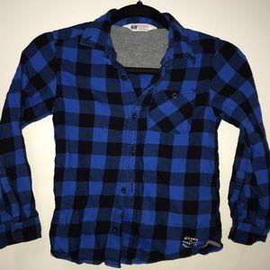 Shirts & Tops - Boys Plaid Shirt
